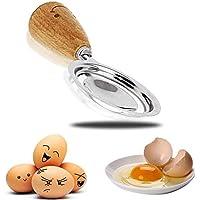 Separador de huevo de acero inoxidable de calidad superior huevos blanco filtro (yolk mangos de madera mango herramienta.