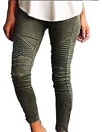 5cbf79870353 Damen Slim Fit Jeans Stretch Lässige Leggins Hose Mit Reißverschluss