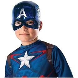 Rubies 39217NS Marvel Avengers Capitán América Deluxe - Máscara para niños (talla única)