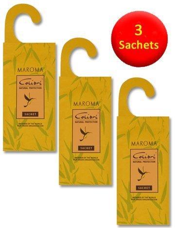 3 sachets de citronnelle antimites à suspendre Anti - Citronnelle - Naturel Moth les insectifuges pour une utilisation dans les tiroirs, armoires et sacs de rangement