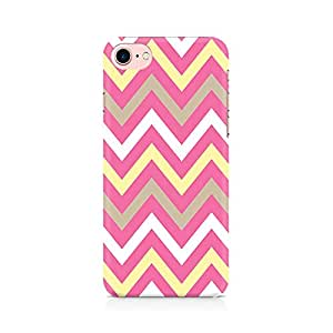 RAYITE Yellow And Pink Broad Chevron Premium Printed Mobile Back Case Cover For Apple iPhone 7 Apple iPhone 7, Apple iPhone 7s,Apple iPhone 7 case,Apple iPhone 7 cover,Apple iPhone 7 back cover,Apple iPhone 7 128 Gb,iPhone 7