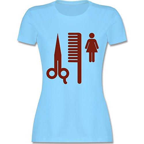 Handwerk - Friseur - tailliertes Premium T-Shirt mit Rundhalsausschnitt für Damen Hellblau
