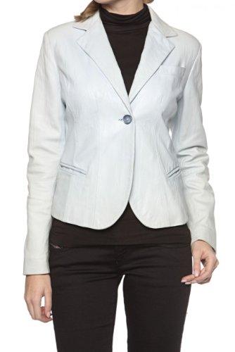 Armo' Endera Damen Jacke Blazer Lederjacke CELESTE, Farbe: Hellblau, Größe: 36