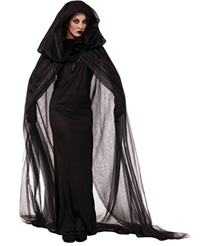 SHUNLIU Halloween Kostüm Damen Witch Halloween-Kostüme Karneval Weinachten Party Erwächse Schwarz Hexen-Cosplay Costüme