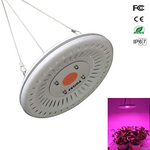 Bester Led Wachstumslampe Lichter Wasserdicht, 50W UFO Cob Wachsen Glühbirne, 300W Cfl & HPS & Fluoreszierend Äquivalent, Ultra-Dünne Lampe mit Vollspektrum für Kleine Gewächszelt Pflanzen - 50w Hps Lampe