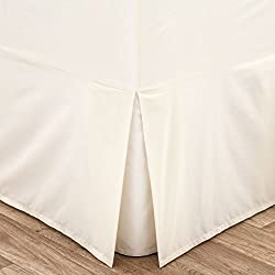 Catherine Lansfield Faldón para cama de matrimonio (percal, no necesita lavado), color beige