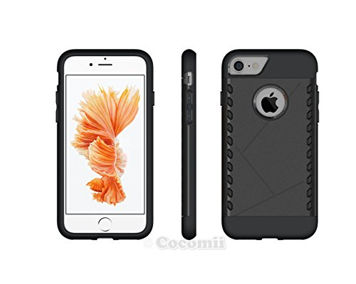 iPhone 8 / iPhone 7 Hülle, Cocomii Paladin Armor NEW [Heavy Duty] Premium Tactical Grip Slim Fit Shockproof Hard Bumper Shell [Military Defender] Full Body Dual Layer Rugged Cover Case Schutzhülle App Black
