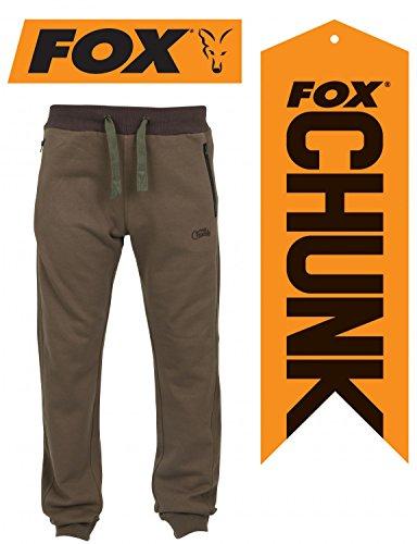 Fox Chunk Ribbed Jogger Hose Angelhose, Größe:L;Farbe:Khaki (braun)