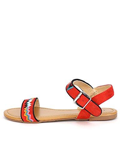 Cendriyon, Sandale Rouge C'MODA Chaussures Femme