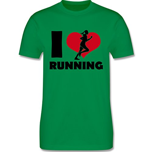Laufsport - I Love Running - Herren Premium T-Shirt Grün