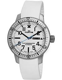 Fortis B42 Marinemaster Day Date 647.11.42.SI.02 Reloj Automático para hombres Pulsera de silicona
