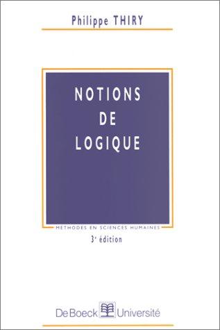 Notions de logique, 3e édition