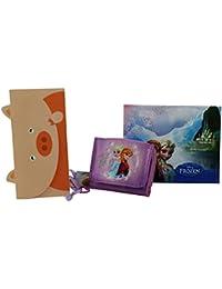 Disney Frozen Elsa Billetera Monedero Bolsillo Amarillo
