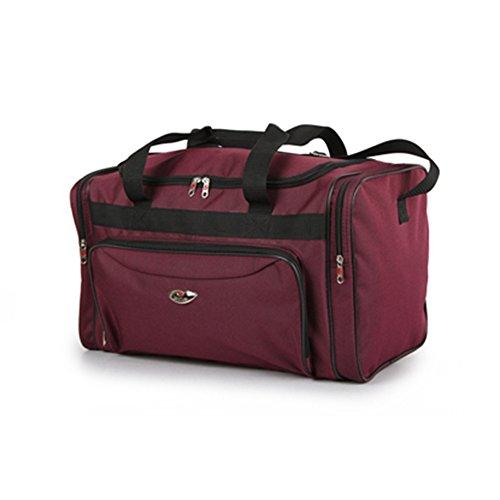 Fashion Essentials-Zipped Tasche nach vorne Reisen Sport Transport Holdall Duffle Ba (grey) burgundy