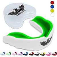UK Warrior Gum Shield Mouth Guard Gum Guard Gumshield - For Contact Sports, Rugby, Martial Arts, Karate, Rugby, MMA, Boxing, Hockey, Football - Mouthguard
