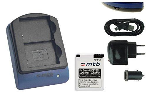 caricabatteria-per-due-batterie-usb-auto-corrente-batteria-ahdbt-301-302-polymer-37v-1180mah-per-gop