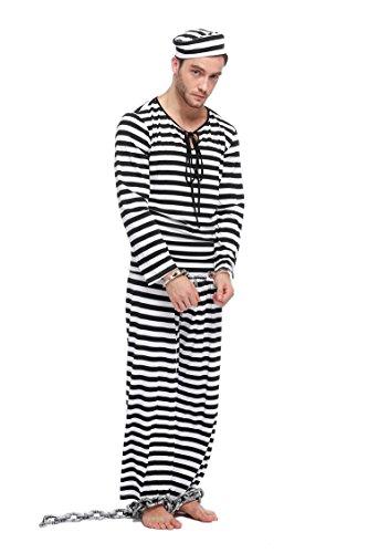 Damen / Mann Gefangener Halloween Kostüm - MAN (Gefangener Kostüme Für Männer)