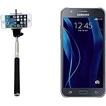 Selfie Stick palillo para Samsung Galaxy J5 Duos, negro, Monopod, mástil telescópico, autorretrato