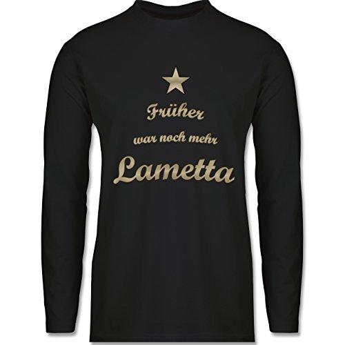 Weihnachten & Silvester - Früher war noch mehr Lametta - Longsleeve / langärmeliges T-Shirt für Herren Schwarz