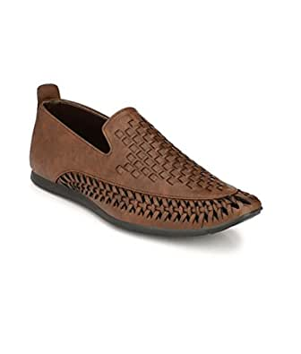 SHOE DAY Men's Roman Artificial Leather Sandals Brown
