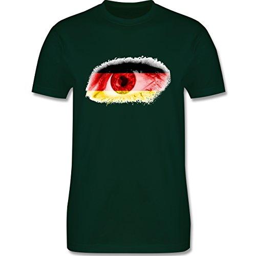 EM 2016 - Frankreich - Auge Bodypaint Deutschland - Herren Premium T-Shirt  Dunkelgrün
