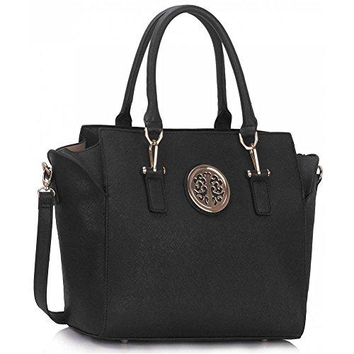 Meine Damen Umhängetaschen Frauen Große Designer Handtaschentoteschulterkunstleder Modische Taschen (Nackte Dame-box)