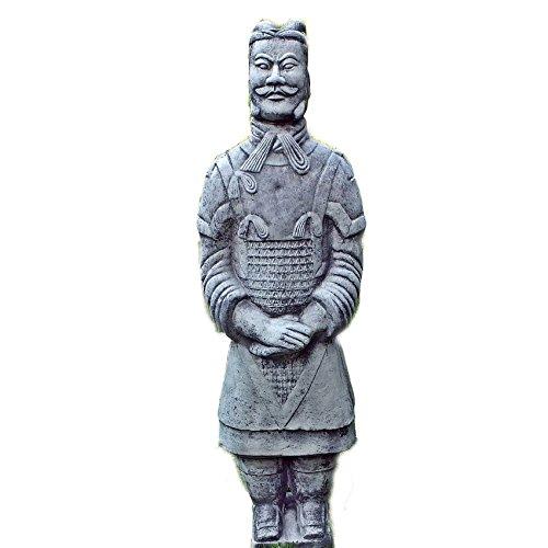 Steinfigur Chinesischer Terrakotta Krieger Soldat Steinguss Gartenfigur 65cm