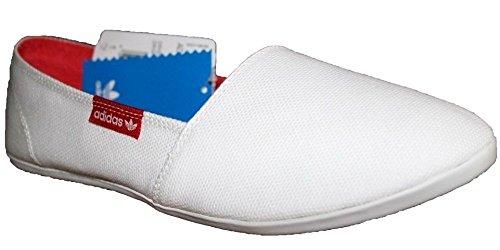 Adidas Originals Adidrill Canvas Schuhe Slipper Ballerina Sneaker weiß/rot, Schuhgröße:EUR 38