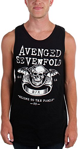 Avenged Sevenfold-uomo Welcome to the Family, Canottiera da donna nero Small