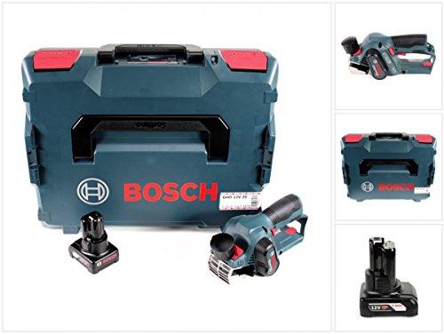 Bosch GHO 12V-20 Akku Hobel Professional in L-Boxx + 1x GBA 12 V 6,0 Ah Akku - ohne Ladegerät