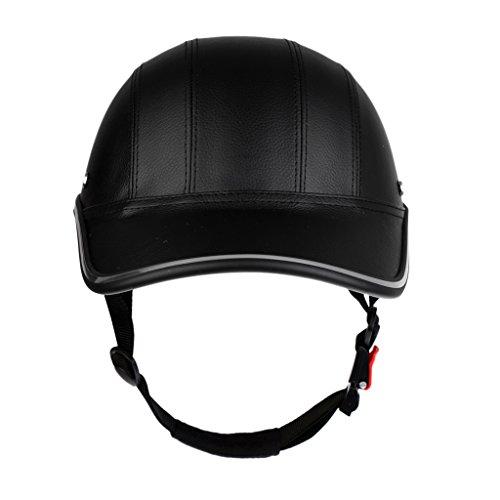 SM SunniMix Fahrradhelm Baseball Cap Schutzhelm Motorradhelm Radhlem für Männer Frauen - Schwarz