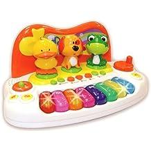 Kinder Baby Keyboard Animal Piano mit Tierstimmen Licht Sounds