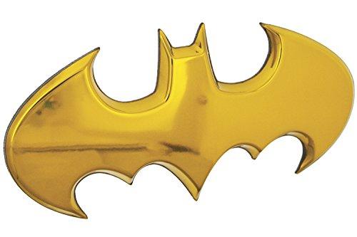 Arkham City Kostüm Batman Kinder - Fan Emblems Batman Batwing Logo 3D Auto Emblem Gelb Chrom, DC Comics Automotive Aufkleber Abzeichen Flexes, um voll auf Autos, LKWs, Motorräder, Laptops, Fenster, fast alles zu haften