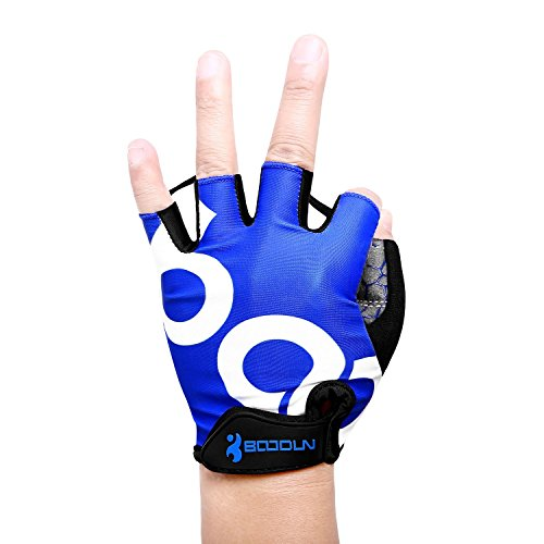 Cycling-Gloves-Fingerless-Blue-Rubber-Padded-Womens-Mens-Gym-Biking-MTB-Half-Finger-Cycling-Gloves-No-Slip-Breathable-for-Outdoor-Sports