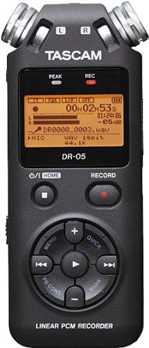 Tascam Linear PCM Karte Flash Silber Diktiergerät–dictaphones (High Quality (HQ), MP3, WAV, 32–320Kbit/s, LCD, orange, USB) (Flash Zoom Lcd)
