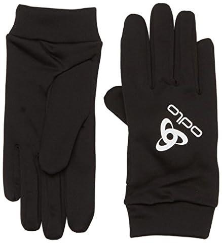 Odlo Unisex Gloves Stretchfleece Liner Fingerhandschuhe He/Uni, Black,