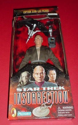 Captain Picard Star Trek Insurrection Figur mit Stoffkleidung 9""