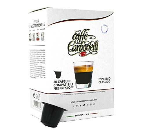 kaffekapseln Kompatible Nespresso. 120 kspseln Caffè Carbonelli Mischung Classic - Neapolitanischer Espressokaffee