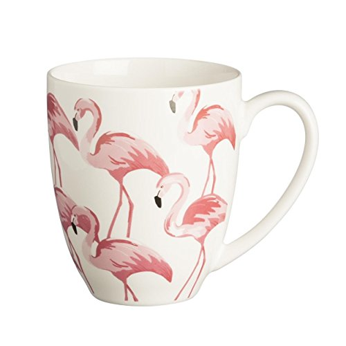 Price & Kensington Flamingo feines Porzellan Becher Trinken Geschenk, Rosa, 380ml