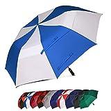 Eono Essentials 62 Inch Portable Golf Umbrella Large Windproof Double Canopy - Automatic