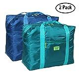 Faltbare Reise-Gepäck DRFLY Duffel Taschen Übernachtung Taschen/ Sporttasche für Reisen Sport Gym Urlaub(2er Pack)