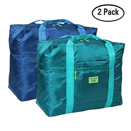 Borsone viaggio pieghevoli drfly borsone da viaggio impermeabile leggero borsa pieghevole bagaglio con grande viaggio palestra aeroporto capacità borsa organizer per donne e uomo (confezione da 2)