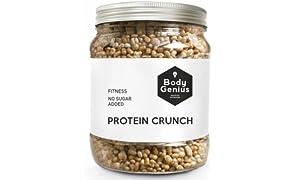 Body Genius PROTEIN CRUNCH (Galleta y Chocolate Blanco). Bolitas de Proteina Recubiertas de Chocolate Sin Azucar. 500 gr