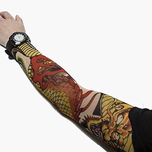 12 Stück Tätowierung Nylon Ärmel Strumpf Tattoo Tribal von Kurtzy (Halloween Kostüm Skater Punk)