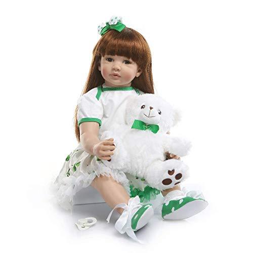 eltene Lebendige Langes Haar Große Größe Neugeborene Kleinkind Puppe in Silikon Vinyl 60 cm Kind Weihnachten Geburtstag Geschenk Tuch körper Wiedergeboren Puppen ()