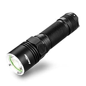 ascher lampe de poche led 600lm rechargeable distance d 39 clairage 500m 3 modes d 39 clairage. Black Bedroom Furniture Sets. Home Design Ideas