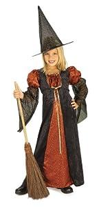 Halloween - Disfraz de Bruja para niña con sombrero, color naranja, infantil 5-7 años (Rubie