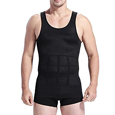iiniim Mens Slimming Vest Shirt Compression Shapewear Body Shaper Sportswear