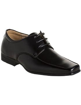 Paisley of London - Zapatos de cordones de sintético para niño negro Matt Black