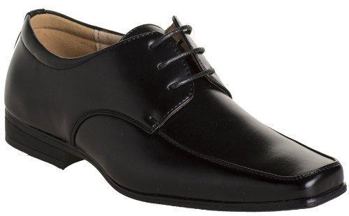 Paisley of London , Chaussures de ville à lacets pour garçon Noir Matt Black